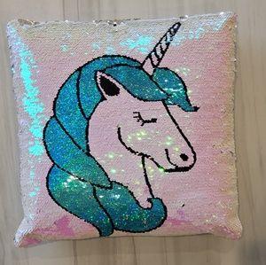 Unicorn Reversible Sequins Throw Pillow